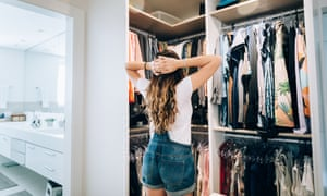 Young teenager girl choosing what to wear