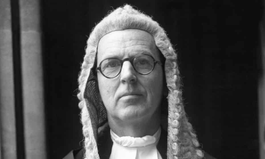 Jeremy Hutchinson, one of the finest silks to practise at the criminal bar, in 1961.