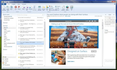 A screenshot of Windows Live Mail, which Microsoft is switching off.