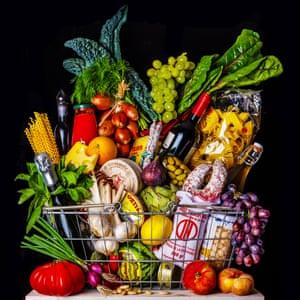 food items in basket