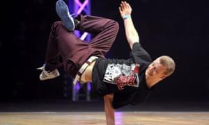 A breakdancer