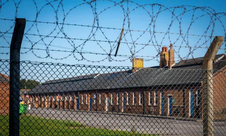 Napier barracks in Kent. An unpublished report by prison inspectors cited 'fundamental failures' made by the Home Office.