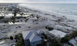 Damage from Hurricane Michael is seen in Mexico Beach, Florida.