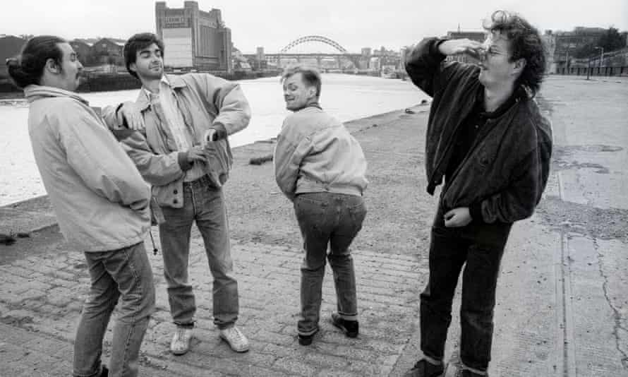 Viz staff in 1989 (left to right): Graham Dury, Simon Thorp, Simon Donald, Chris Donald.