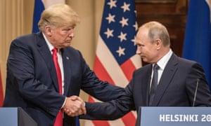 Donald Trump meeting Vladimir Putin in Helsinki