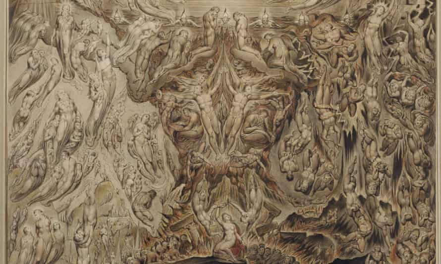 Detail from William Blake's painting, A Vision of the Last Judgment