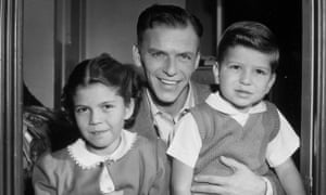 Frank Sinatra Jr in 1948 with his father, Frank, and sister Nancy. Nancy also became a singer.