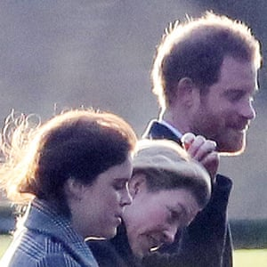 Prince Harry arrives for the Christmas Day service at the church of St Mary Magdalene.
