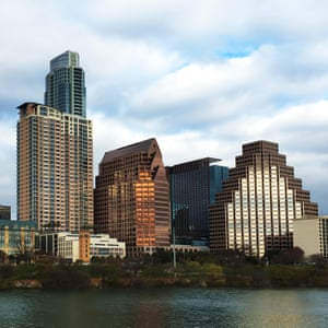 The Austin, Texas, skyline at twilight