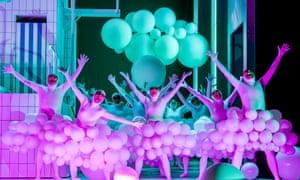 Glorious … the ENO chorus in white-balloon tutus.
