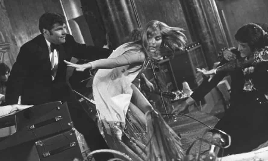 Carol Lynley on the set of The Poseidon Adventure, 1972. 'It was the most physically demanding role you can possibly imagine,' she recalled.