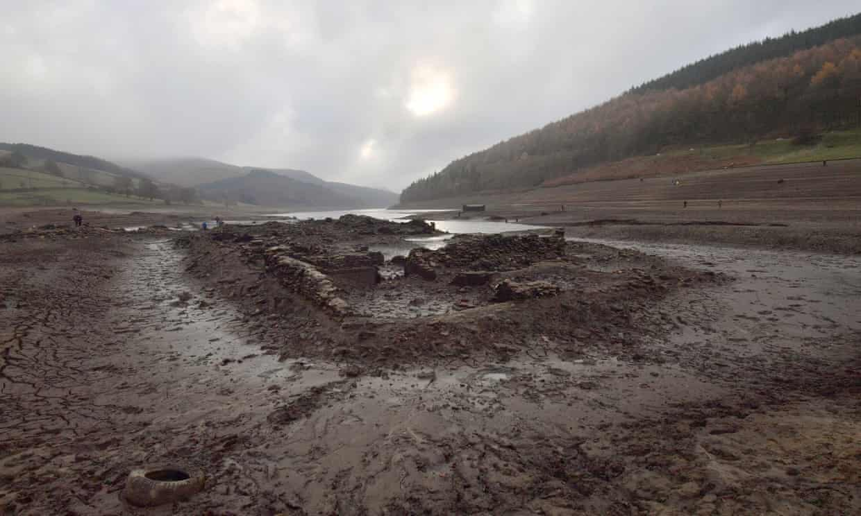 Remnants of the once-submerged Derwent village.