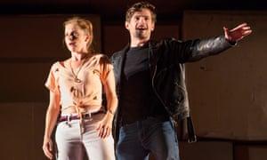 Kate Batter as Polly Peachum and Benjamin Purkiss as Macheath in The Beggar's Opera at the King's theatre, Edinburgh international festival 2018.