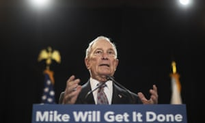 Michael Bloomberg speaks at a campaign event Wednesday in Providence, Rhode Island.