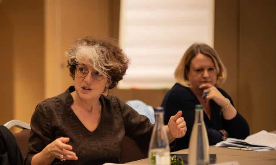 Nathalie Strub-Wourgaft (left) and Rachael Thomson. NTDs roundtable, Geneva Feb 2020.