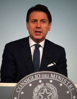 Italian Prime Minister Giuseppe Conte.