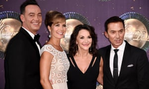 Craig Revel Horwood (far left) with fellow Strictly judges Darcey Bussell, Shirley Ballas and Bruno Tonioli.