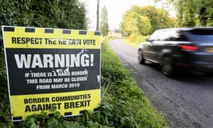 An anti-hard border sign in Clones, Co Monaghan