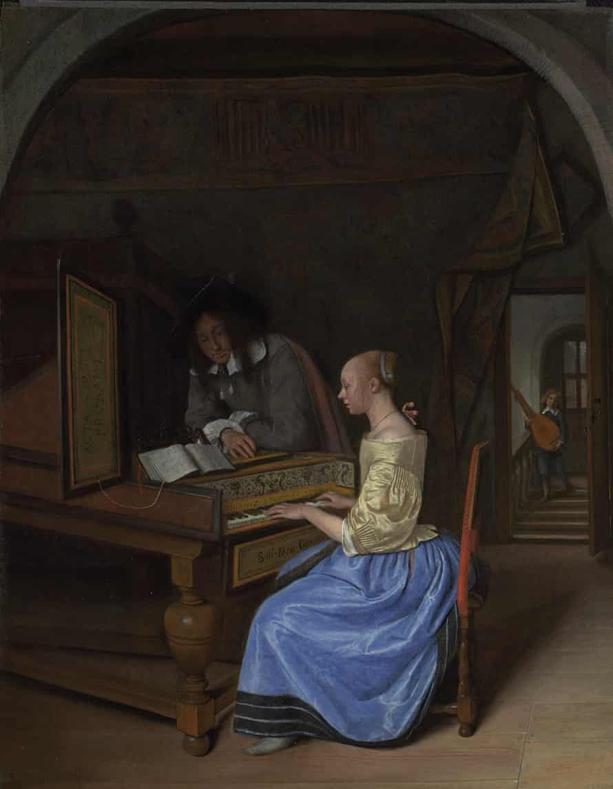 Jan Steen (1626 - 1679) A Young Woman playing a Harpsichord to a Young Man, probably 1659 Oil on oak 42.3 x 33 cm The National Gallery, London Inv. NG856 The National Gallery, London VERMEER AND MUSIC: THE ART OF LOVE AND LEISURE