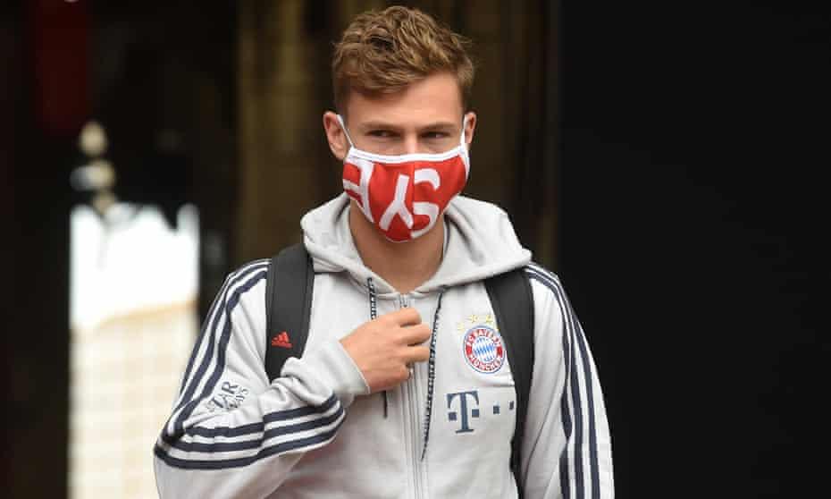 Joshua Kimmich at the Allianz Arena before Bayern's game with Fortuna Düsseldorf.