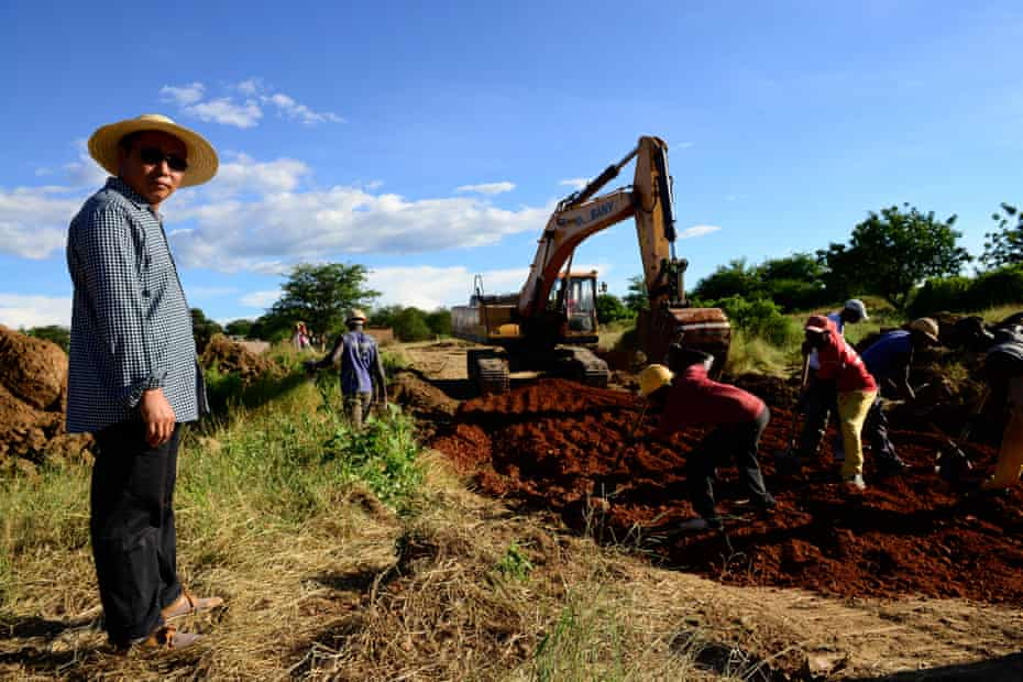 Transforming Africa … a Chinese-led construction project in Zambia.