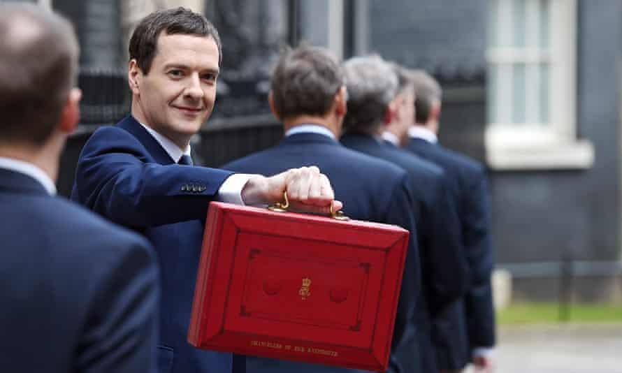 George Osborne outside 11 Downing Street.