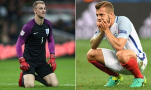 The goalkeeper Joe Hart and midfielder Jack Wilshere are not part of Gareth Southgate's England squad for this summer's World Cup finals in Russia.