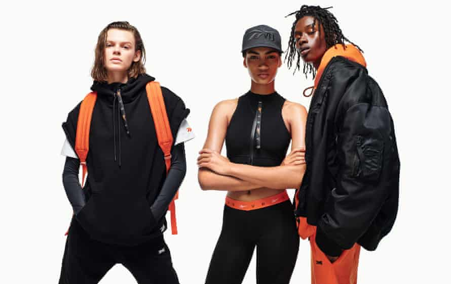 Designs from a new Victoria Beckham collaboration with Reebok; the first range launches in January 2019