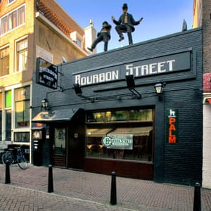 Black facade of the Bourbon Street Blues Club