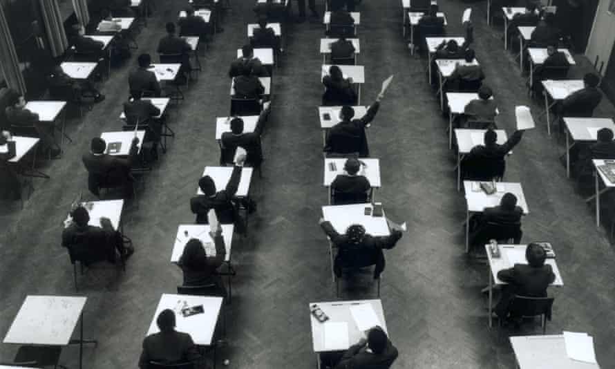Examination room at school
