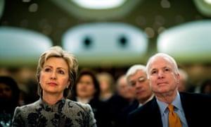 Hillary Clinton and John McCain in 2007.