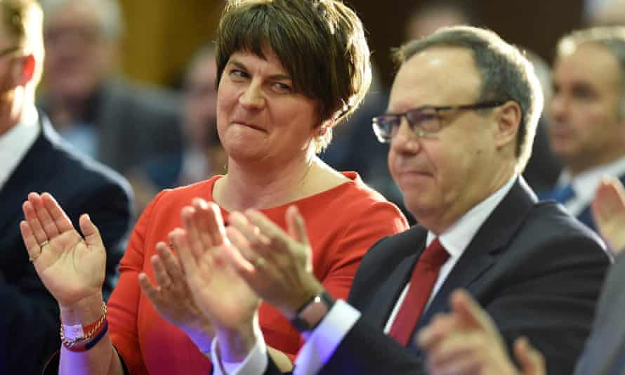 Arlene Foster and DUP deputy leader Nigel Dodds during the party's annual conference in November.