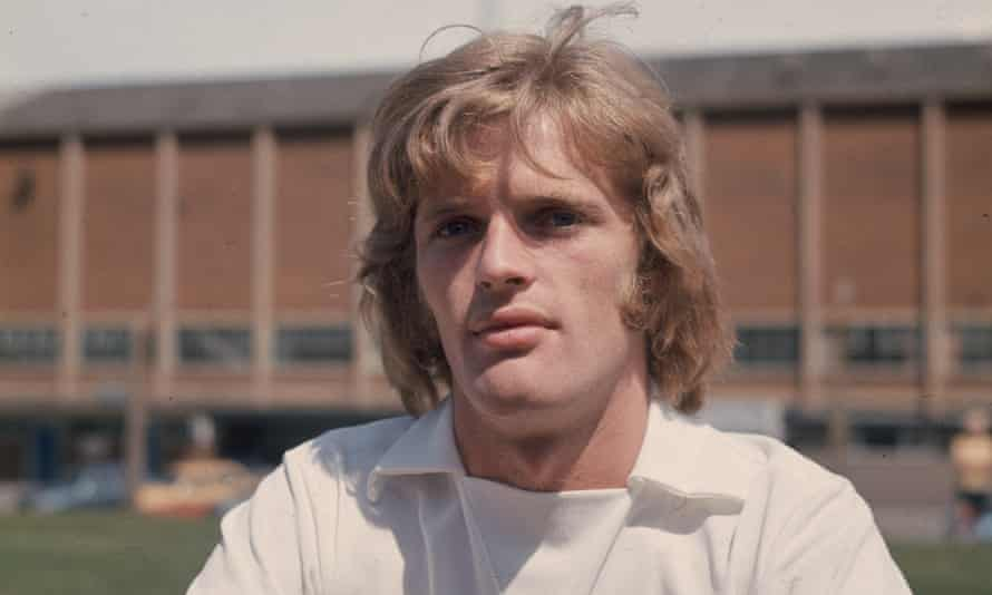 Gordon McQueen of Leeds United in 1974. He has warned modern-day footballers of the risks of heading balls after he was diagnosed with vascular dementia.