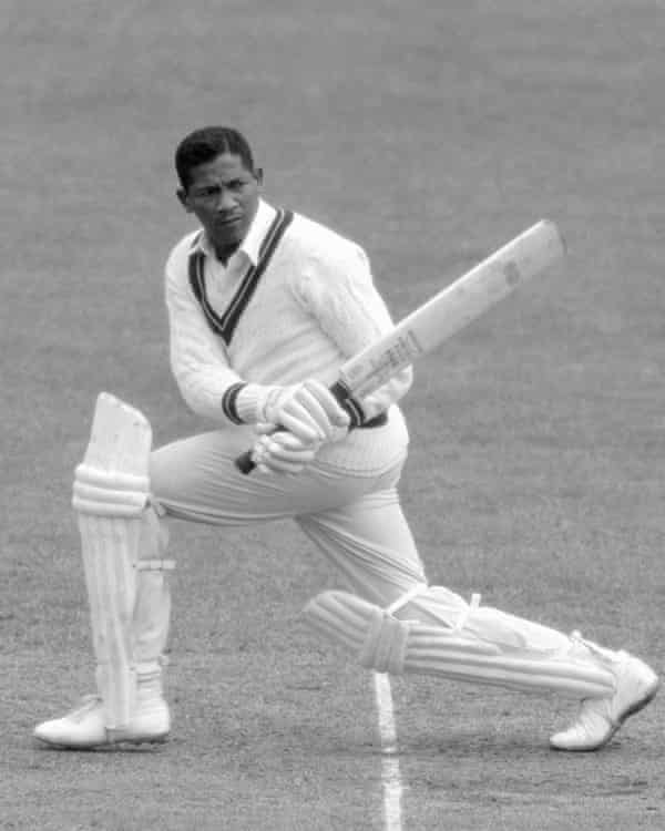 Basil Butcher batting against England in the fourth Test at Headingley in 1963.