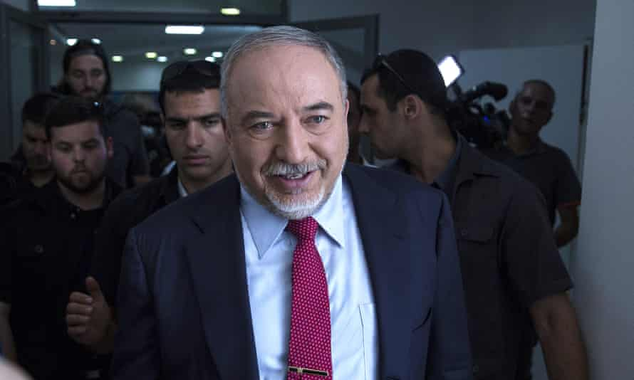 Former Israeli defence minister and leader of the Yisrael Beiteino party Avigdor Lieberman in Tel Aviv.
