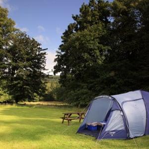Campsite at Glendaruel, Argyll, Scotland.
