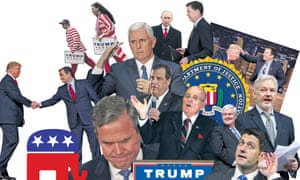 The rivals and enablers who have helped Donald Trump get so far in his presidential campaign.