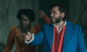 Don't mess with the mutton-chop … Berry with Susan Wokoma in Year of the Rabbit.
