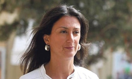 Daphne Caruana Galizia who was killed by a car bomb in October 2017