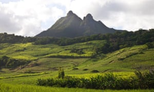 Mountain view, a short distance from the camp. East Mauritius.