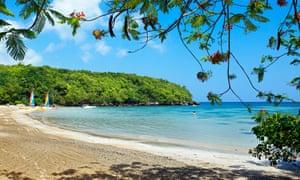 The beach at Ocho Rios.