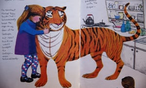 A page from The Tiger Who Came to Tea