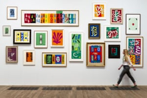 Henri Matisse: The Cut-Outs exhibition, at Tate Modern in 2014.