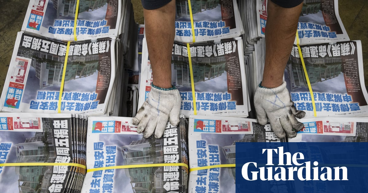 Hong Kong leader refuses to say how media can avoid arrest in wake of Apple Daily raids