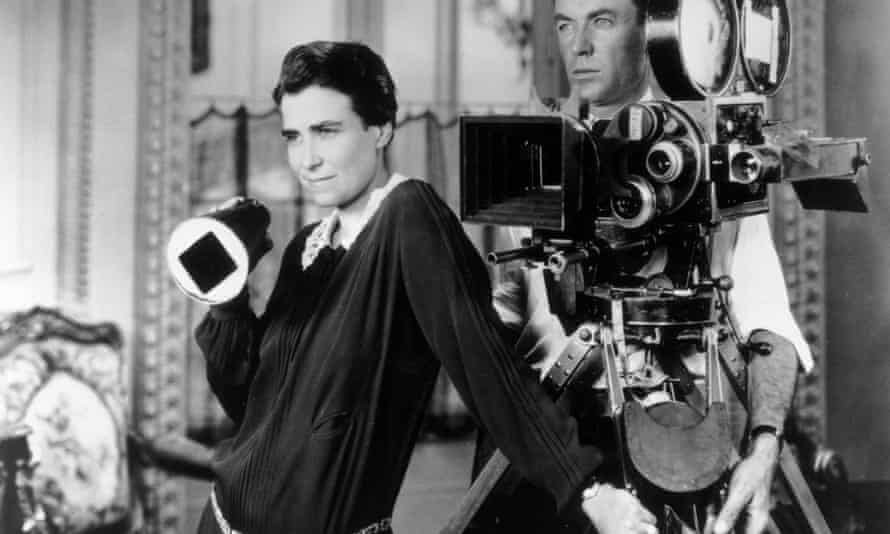 Dorothy Arzner with Alfred Gilks, her cinematographer, on the set of her 1927 film Get Your Man.
