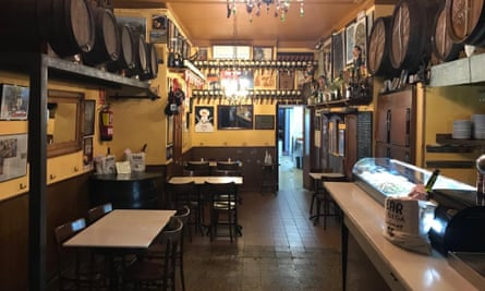 Bodega Quimet in Gràcia, Barcelona, is one of the bars that has been listed as part of the city's cultural heritage.