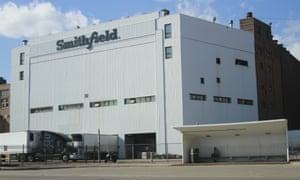 The Smithfield pork processing plant in Sioux Falls, South Dakota, where about 240 employees have contracted the virus.