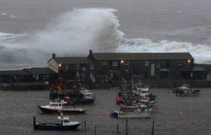 Storm Ciara arrives in Lyme Regis