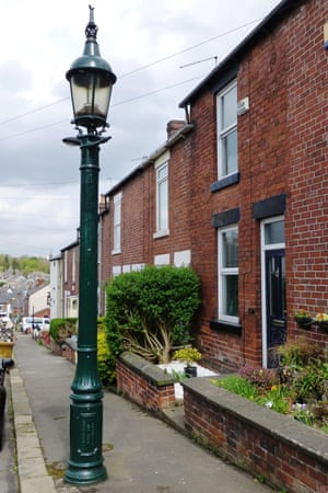 A streetlamp in Sheffield, formerly a gas destructor lamp