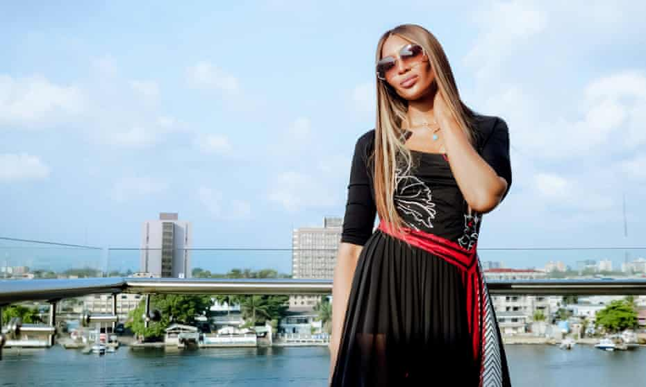 Naomi Campbell in Lagos last week.